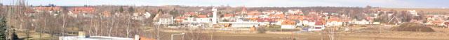 Zmenšené panorama z přístupového bodu AP Sobín - detail na Hostivice