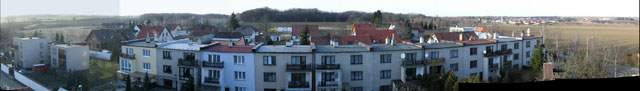 Zmenšené panorama z přístupového bodu AP Sobín JZ->S->SV