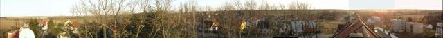 Zmenšené panorama z přístupového bodu AP Sobín SV->J->JZ